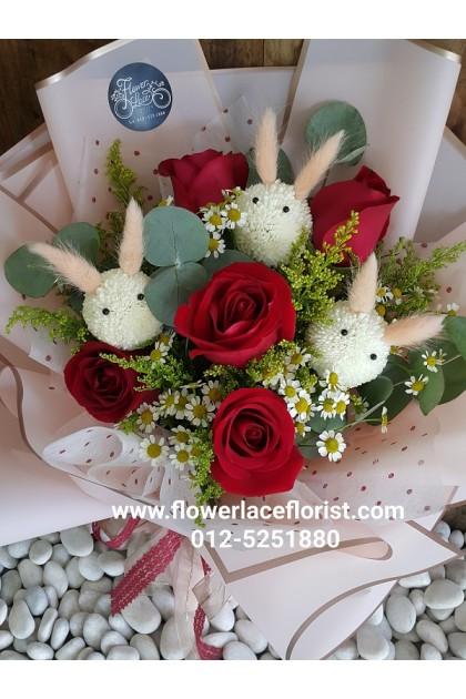 Rose Hand Bouquet 112